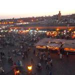 Sunset in Djemaa el-Fna