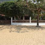 View of the Pousada manacá from the beach