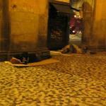 street entrance - homeless sleeping