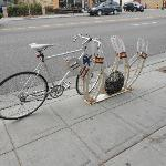 Bike rack out front