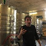 Pierre explaining the wine process