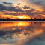 Sun set over the lake