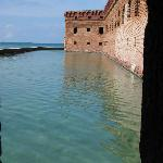 Moat at Ft. Jefferson in Dry Tortugas Nat. Park