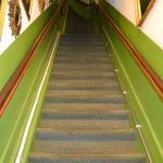 le scale che portano alle stanze