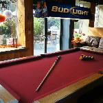 Pool Table and Preview of our Patio..