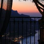 Sunrise over Amalfi Coast, as seen from our bed!