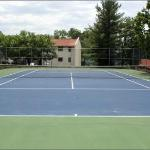 Clay tennis courts, perfect for us!