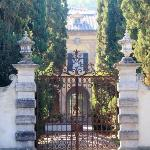 Entrance to Villa Foce just a short distance away