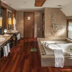 Luxurious bathroom of all villas