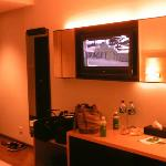Room with 32 inch LCD TV