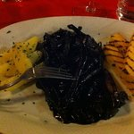 polenta and cuttlefish and its ink, mummmm !