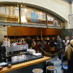 Blue Bottle Coffee - queue at the Ferry Building Marketplace