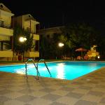 MARVA Pool area by night
