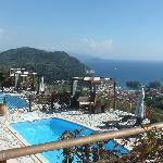 The pools at Apolis Villas.