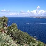 Vue du Château Aragon sur la baie de Naples