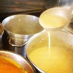 Hot steamy homemade soups