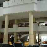 in the lobby
