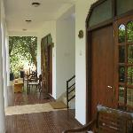 Veranda outside rooms. Good to sit out and relax in the quiet environment