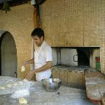 making pitta breads