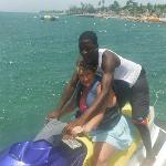 Jet skiing at the hotel - so much fun!!!!