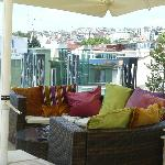 Rooftop terrace where you can have drinks and snacks