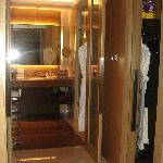 Suite: Bathroom with walk in wardrobe to the left and to the right