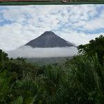 Arenal Volcano from our room at Tabacon