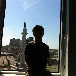View from our room - overlooking Robert E Lee statue in Lee Circle.