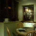A corner of the restaurant area