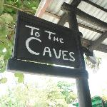 Restaurant entrance to the caves
