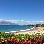 Cabana view of the beach at the Four Seaons Maui at Wailea!