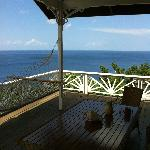 view from deck in flamboyant villa