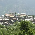 View of Kalpa town from the room balcony