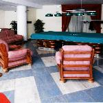 Recreational area is in the basement