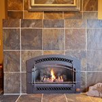 Slate Tiled Gas Fireplace