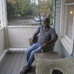 Stan on balcony