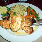 The 11oz. Stuffed Lobster Tail - star of the eveing