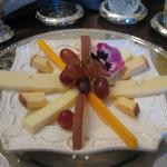 First course of breakfast-gourmet cheese plate