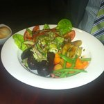 Vegan meal - warm veg with watermelon salad!
