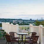Enjoy views of the MacKay Bridge from our front porch.