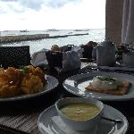 Breakfast at the cabana