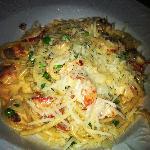 Lobster Bucatini - lemon mascarpone cream, sweat peas, pancetta, pecorino