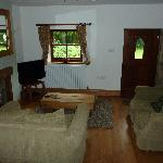 Lounge with flat TV, DVD player, stereo, books & games