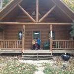 Our Cabin with Name Posted Outside