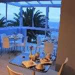 breakfast area early in the morning