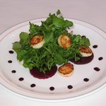 Pine Smoked Scallop Salad