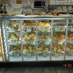 Deli bagel case