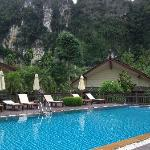Good clean pool overlooking attractive limestone cliffs