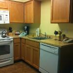 Kitchen area...clean and well stocked