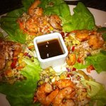 Thai shrimp lettuce wrap